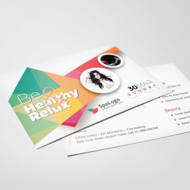 Modern Beauty PostCard With Abstract Design