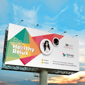 Modern Billboard Sinage With Abstract Design