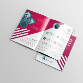 Modern Business BiFold Brochure With Red Accent