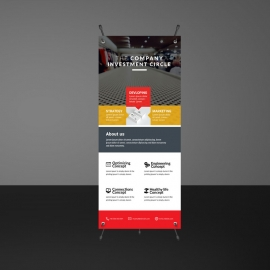 Modern Business Boxs Rollup Banners