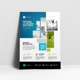 Modern Business Flyer With Blue Accent