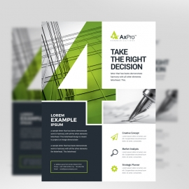 Modern Business Flyer With Green/Black Accent