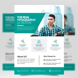 Modern Business Flyer with Paste Accent