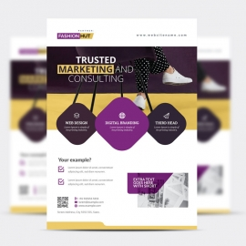 Modern Business Flyer With Purple Accent