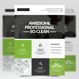 Modern Business  Green Boxs Flyer