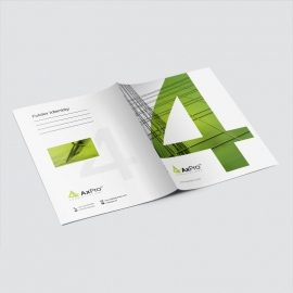 Modern Business Presentation Folder With Green Accent