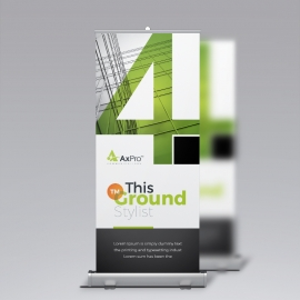 Modern Business Rollup Banner With Green Accent