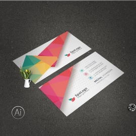 Modern BusinessCard With Abstract Design