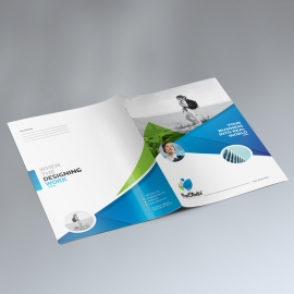 Modern Corporate Presentation Folder Template