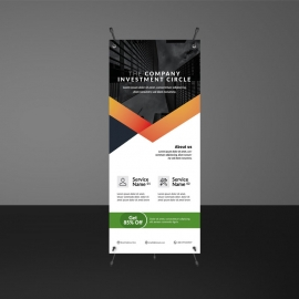 Modern Corporate Rollup Banners