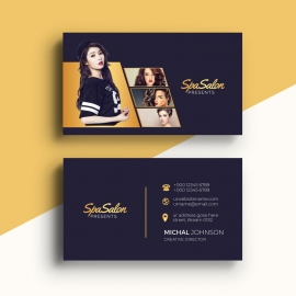 Modern Fashion BusinessCard With Golden Color