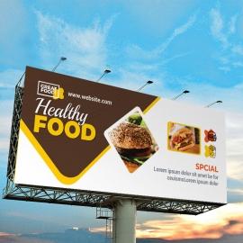 Modern Fast Food Restaurant Billboard Sinage