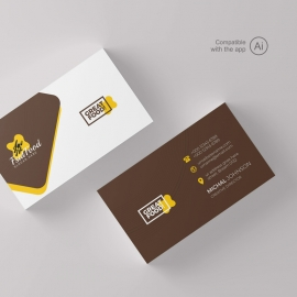 Modern Fast Food Restaurant BusinessCard