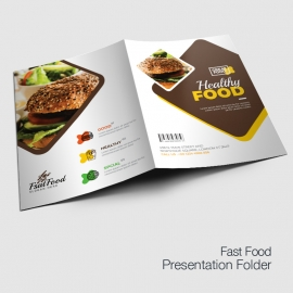 Modern Fast Food Restaurant Presentation Folder