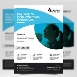 Modern Flyer Business With Abstract Shapes Free Download