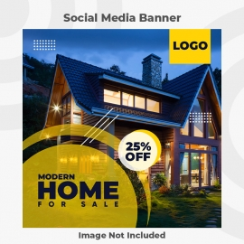 Modern home for sale banner