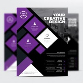 Modern Purple Psd Flyer