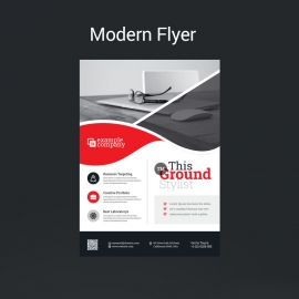 Modern Red Flyer Template
