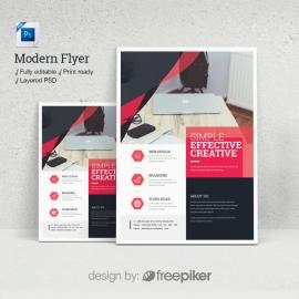 Modern Red Psd Flyer