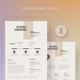 Modern Resume Cover Letter Template