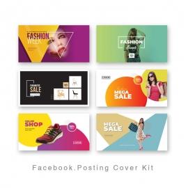 Modern Social Media Facebook Posting Cover Kit