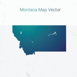 Montana Map By Gradient Vector Design