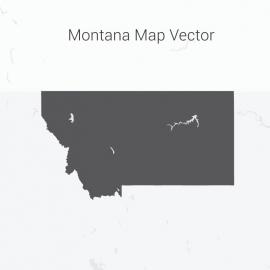 Montana Map Dark Vector Design