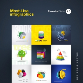 Most Use Essential Infographics Set 1.0
