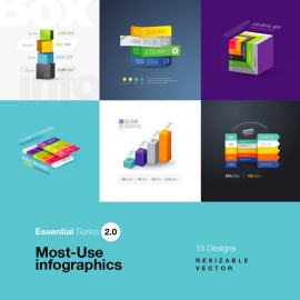 Most Use Essential Infographics Set II
