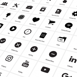 Most Use Vector Icon Set