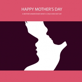 Mother's Day Silhouettes Vector