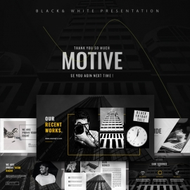 Motive Black Business Presentation Template