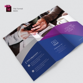 Multiparpose Trifold Brochure With Purple Accent