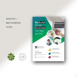 Multipurpose Business Flyer With Green Accent