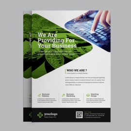 Multipurpose Business Flyer with Green Concept
