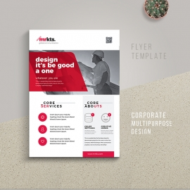 Multipurpose Business Flyer  With Red Accent