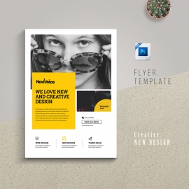 Multipurpose Business Flyer With Yellow Accent