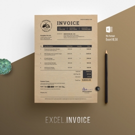 Multipurpose Creative Retro Excel Invoice