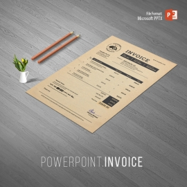 Multipurpose Creative Retro Powerpoint Invoice