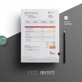 Multipurpose Minimalist Excel Invoice
