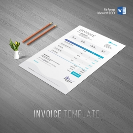 Multipurpose Professional Invoice With Orange Blue