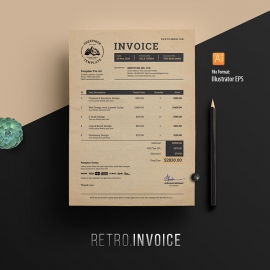 Multipurpose Retro Invoice
