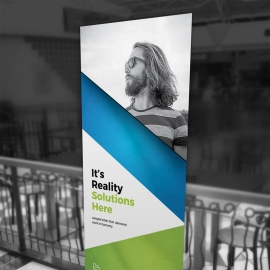Multipurpose Rollup Banner With Green Accent