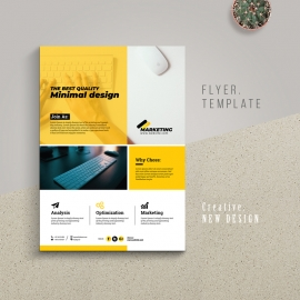 Multipurpose Simple Business Flyer With Yellow Accent