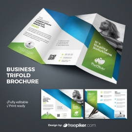 Multipurpose TriFold Brochure With Green Accent
