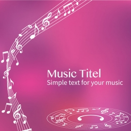 Music Background Vector Design