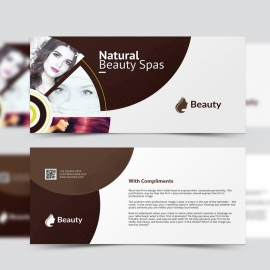 Natural Beauty Spa Compliment Card