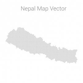 Nepal Map By Dots Vector Design