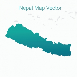 Nepal Map with By Gradient  Color Background