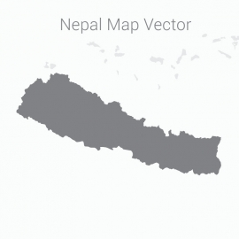 Nepal Map with Dark Background